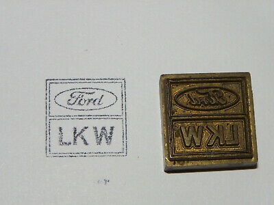 Alter Messing Stempel - Ford LKW - Druckplatte ?            #1319