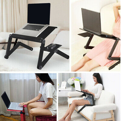 Computer Desks Portable Adjustable Foldable Laptop Notebook Lap PC Folding Desk