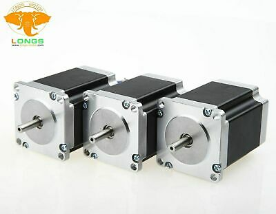 Free ship! LONGS 3PC Nema23 Stepper Motor 23HS8430  270oz-in 3A 76mm CNC