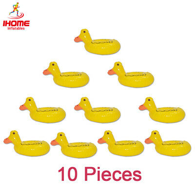 IHOME 10pcs Floating Pineapple Inflatable Pool Drink Holders Floats Cup Coasters