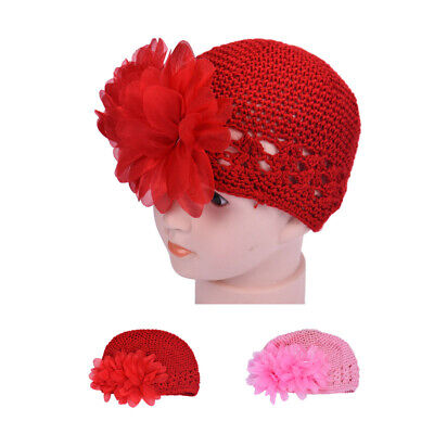 Knit Toddlers  Headband Headwear Infant Baby Girl Flower Hat Crochet Hair Band