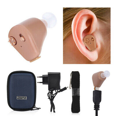 Digital Hearing Aid Rechargeable Sound Voice Amplifier Adjustable in Ear