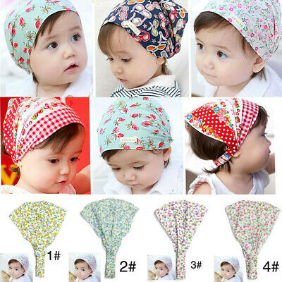 Toddler Baby girl Hair Band Cute Printed Cotton Floral Headband Hat Scarf