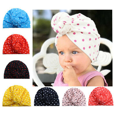 Toddler Infant Kids Baby Boy Girls Hat Turban Cotton Beanie Warm Cap Outdoor CW