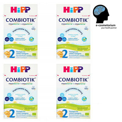 HiPP BIO Combiotic/Combiotik Stage 2 Organic First Infant Milk 600g - 4 Boxes