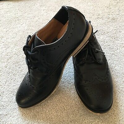 d2cf87b0460 Boys Black Brogue Shoes Size 1UK Holy Communion Just Wore Once Perfect Cond.