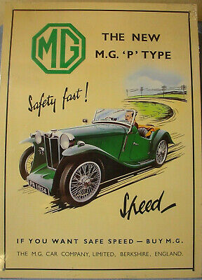 New Mg  Advert Tack Plate 15 X 12