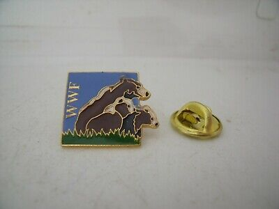 Pin's Pins Pin Badge WWF WORLD WILDLIFE FUND OURS / BEARS TOP