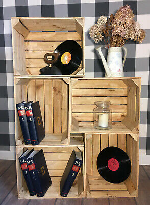 5 Best Wooden Apple Crates Fruit Boxes Home Decor Rustic Vintage Display Shelf