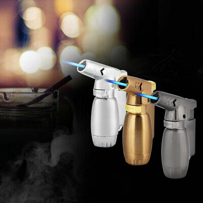 Cigarette Cigar Butane Gas Lighter Cylinder Flint Wheel Windproof Jet Flame New