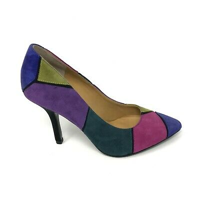 a7627ac44911 Nine West Boogie Down Womens Size 6 Multi Color Geometric Pointed Toe Pumps