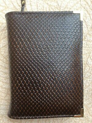 Brown  leather bible cover 4 Jehovah's Witness standard edition  (DLbi12-E)