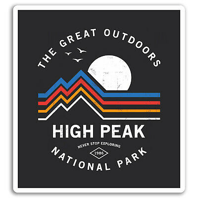 2 x 10cm Mountains Vinyl Stickers - Hiking Camping Travel Sticker Luggage #17543