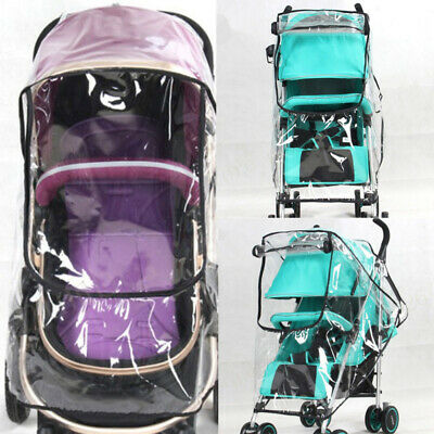 Universal Pushchair Buggy Rain Cover Baby Transparent Stroller Wind Dust  CQE