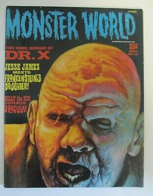 Monster World May No.8 Dr.X Jesse James Dracula Good Condition Good Condistion