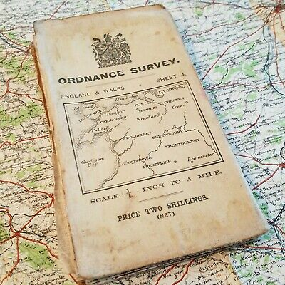British 1913 Holyhead Wales Map Vintage Ordnance Survey Os Old Antique Maps Grv