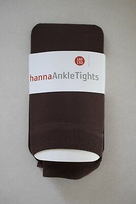 HANNA ANDERSSON Girls Microfiber Footless Ankle Tights size 140/150 10-12-14 New