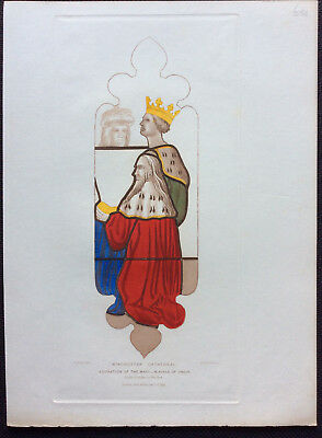 Stained Glass THE MAGI, Winchester Cathedral, Owen Carter, Le Keux, orig c1845