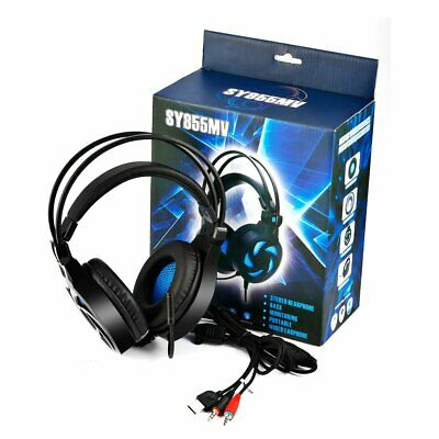 3.5mm Gaming Headset MIC LED Headphones Surround for PC Mac Laptop PS4 Xbox