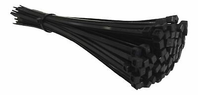 100 BLACK CABLE TIES ZIP TIES STRONG 250mm X 4.8mm UK Manufactured High Quality