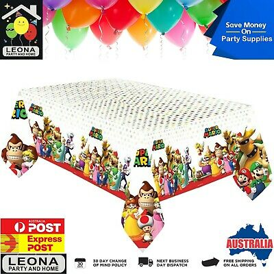 225 & SUPER MARIO PLASTIC Tablecover Birthday Party Supplies Tablecloth ...