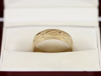 Fine Rings Precious Metal Without Stones Wedding Band 9ct Gold Ladies D Shaped Ring Size M 375 2.2g Cj20