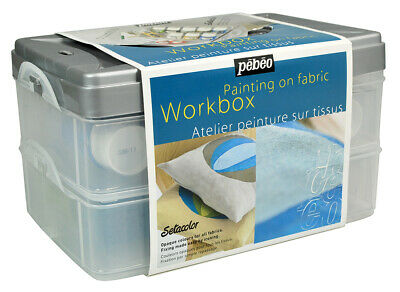 Pebeo Setacolor Opaque Fabric Paint Workbox Set 10 x 45ml Colours & Accessories