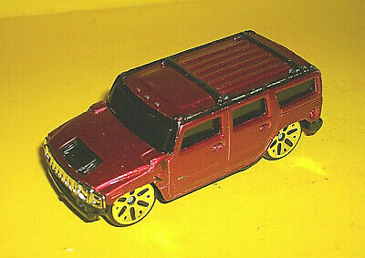 ### Maisto Candy Red Hummer H2 Suv 1/64 Scale Diecast Made In China