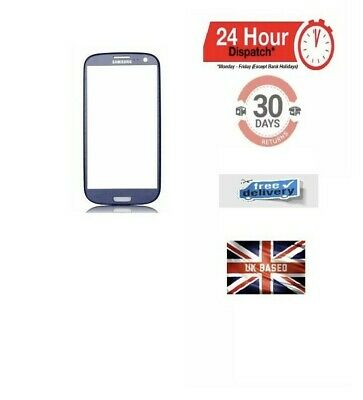 Front Glass Touch Screen Digitizer Lens for Samsung Galaxy S3 I9300 LTE BLUE UK