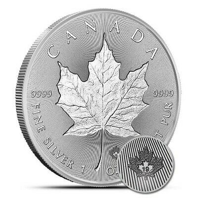 2019 Limited Edition Canadian Double Incuse Maple Leaf 1 oz .9999 Silver BU Coin