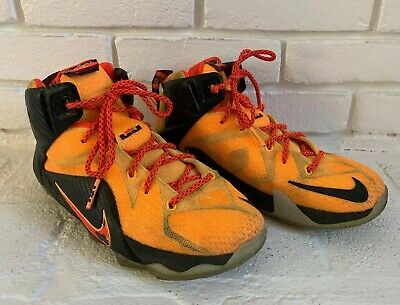 newest collection f6b2d eca80 Nike LeBron 12 XII Witness Laser Sz 6.5Y Youth Orange Black GS 685181-830