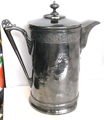 "Antique Silver Plated Ice Pitcher "" Reed & Barton ""  middle 18  c."