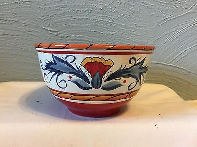 (2) Tabletops Unlimited Italiano Soup Cereal Bowl Gallery Collection Red Flowers
