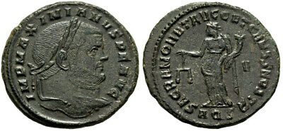 FORVM Choice aEF Maximian Follis Aquileia Centered Sharp Detail Scarce Moneta