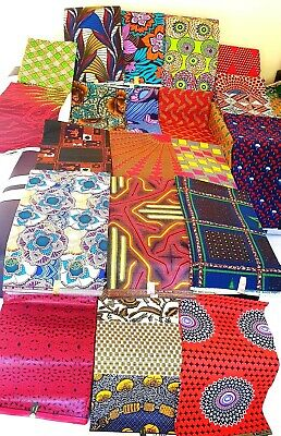 African Ankara Wax Print Cotton Crafts Sewing Quilting Fat Quarter /Bundle Deals