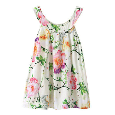 Floral Summer Girl Dress Casual Party Kids Dresses Children Clothes Fashion Wear