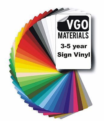VGO Self Adhesive Vinyl Many Colours & Sizes Crafts Signwork Wallart cuboard