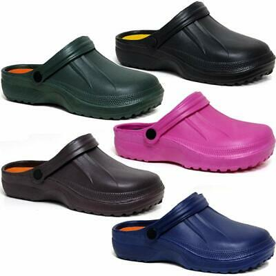 Mens Ladies Clogs Mules Nursing Garden Beach Sandals Hospital Rubber Pool Shoes