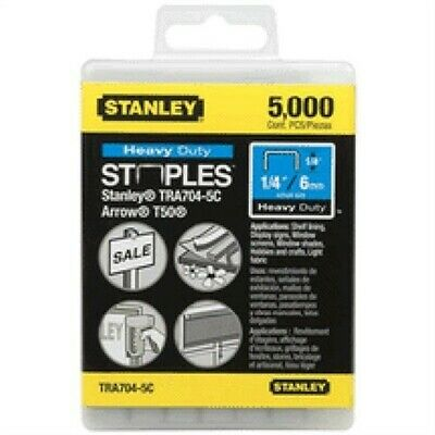 "Tra705-5c 5/16"" Heavy-Duty Staples Re-Sealable 5m Pk, by STANLEY TOOLS"