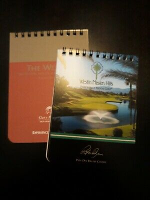 Westin Mission Hills Golf Yardage books Pete Dye Resort & Gary Player courses