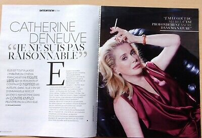 coupures de presse/  CATHERINE DENEUVE /4  pages  / en 2013/ ref.   66177