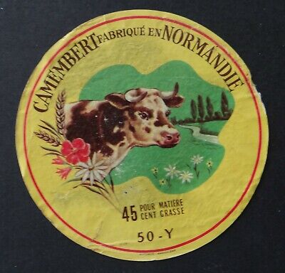 Etiquette fromage CAMEMBERT  de Normandie 50 Y French cheese label