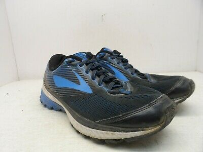 04ebbb5d240 BROOKS MEN S GHOST 10 Running Shoes Black Blue White Size 12 Wide 2E ...