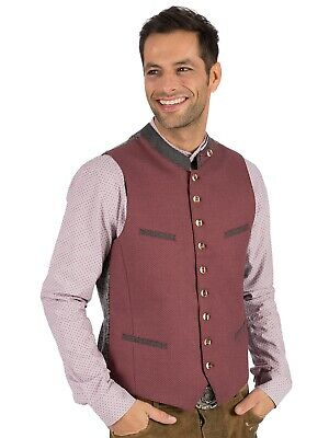 Os-Trachten Traditional Costume Waistcoat Lasse Red