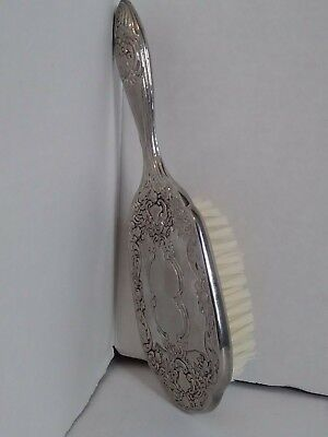 Vintage Floral Flower Pattern Vanity Hair Brush Comb Sterling Silver?