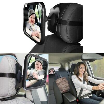 Baby Car Seat Rear View Mirror Facing Back Kids Toddler Protection Safety G0E9P