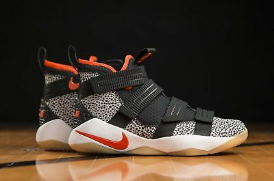 1054c4e5296 NIKE AIR ZOOM LeBron Soldier XII 12 Camo Black Basketball Gym ...