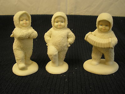 Department Dept 56 SNOWBABIES Dancing to a Tune Set 3 Christmas Figurines 68080