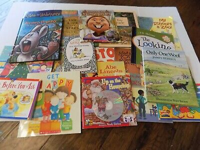 Huge Mixed Lot of 20 Kids Story Books Bedtime Daycare Paper Back & Hard Cover