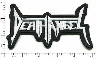 """DEATH ANGEL heavy metal band embroidered iron on patch 5""""x3"""""""